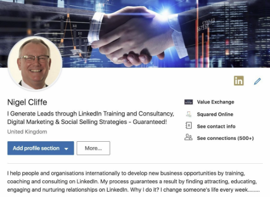 Nigel Cliffe LinkedIn Profile