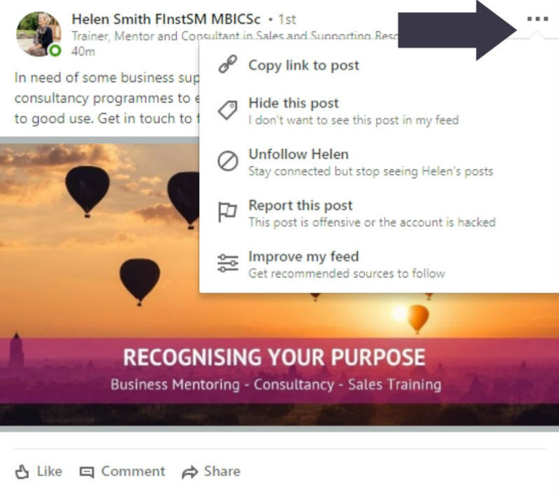 Managing Your LinkedIn Feed