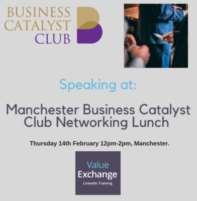 Manchester Business Catalyst Club Networking Lunch