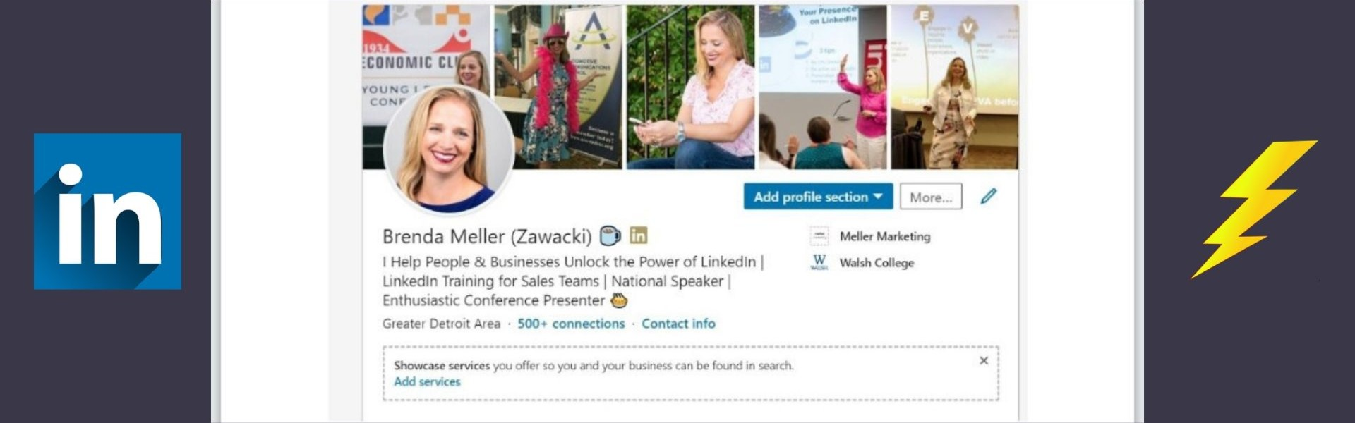 LinkedIn features, Showcase services