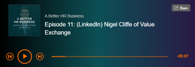 Ben Geoghegan's A Better HR Business podcast with Nigel Cliffe