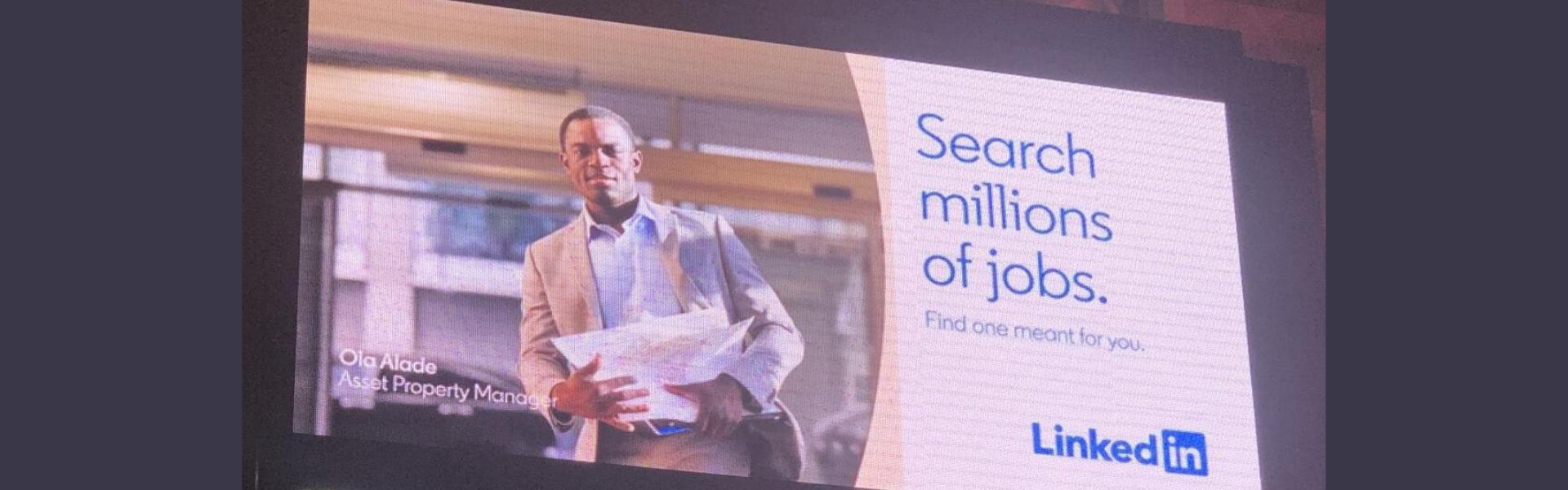 Why do people use LinkedIn, LinkedIn job search billboard