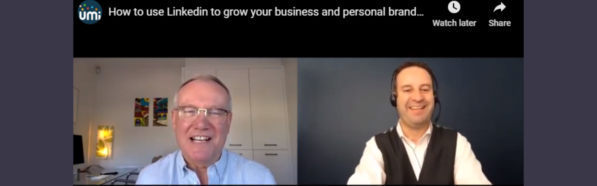 How to Use LinkedIn for Business Growth UMi webinar with Nigel Cliffe