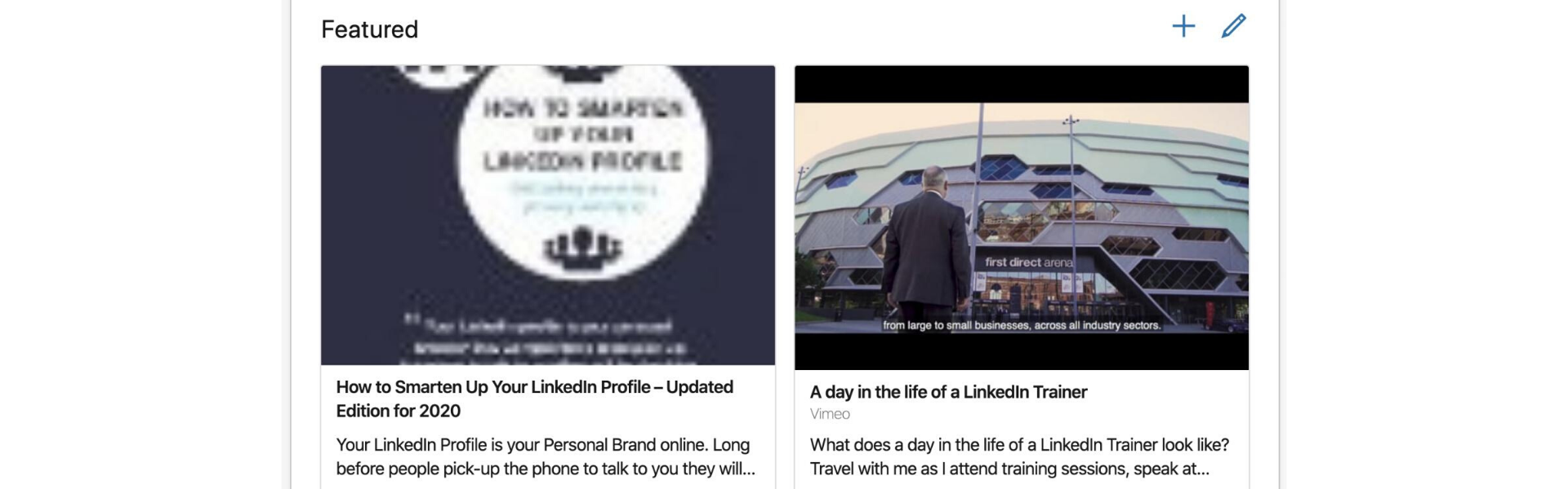 New LinkedIn Profile Featured section to improve your LinkedIn Profile