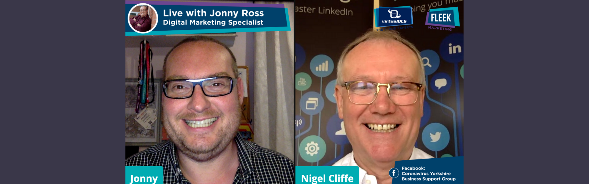 Jonny Ross and Nigel Cliffe answering LinkedIn questions