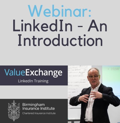 Webinar: LinkedIn - An Introduction by Nigthe Birmingham Insurance Institute Cliffe for