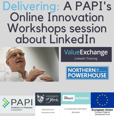 PAPI Online Innovation Workshops LinkedIn session 8th Oct delivered by Nigel Cliffe