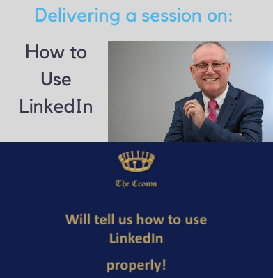 Nigel Cliffe delivering a How to Use LinkedIn training session for The Crown