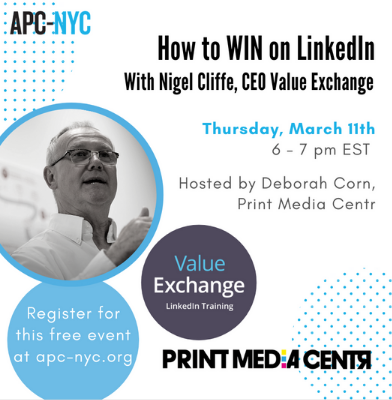 How to win on LinkedIn online event with Nigel Cliffe and Deborah Corn