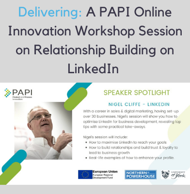 Nigel Cliffe will be delivering a PAPI LinkedIn Workshop session on May 6th 2021