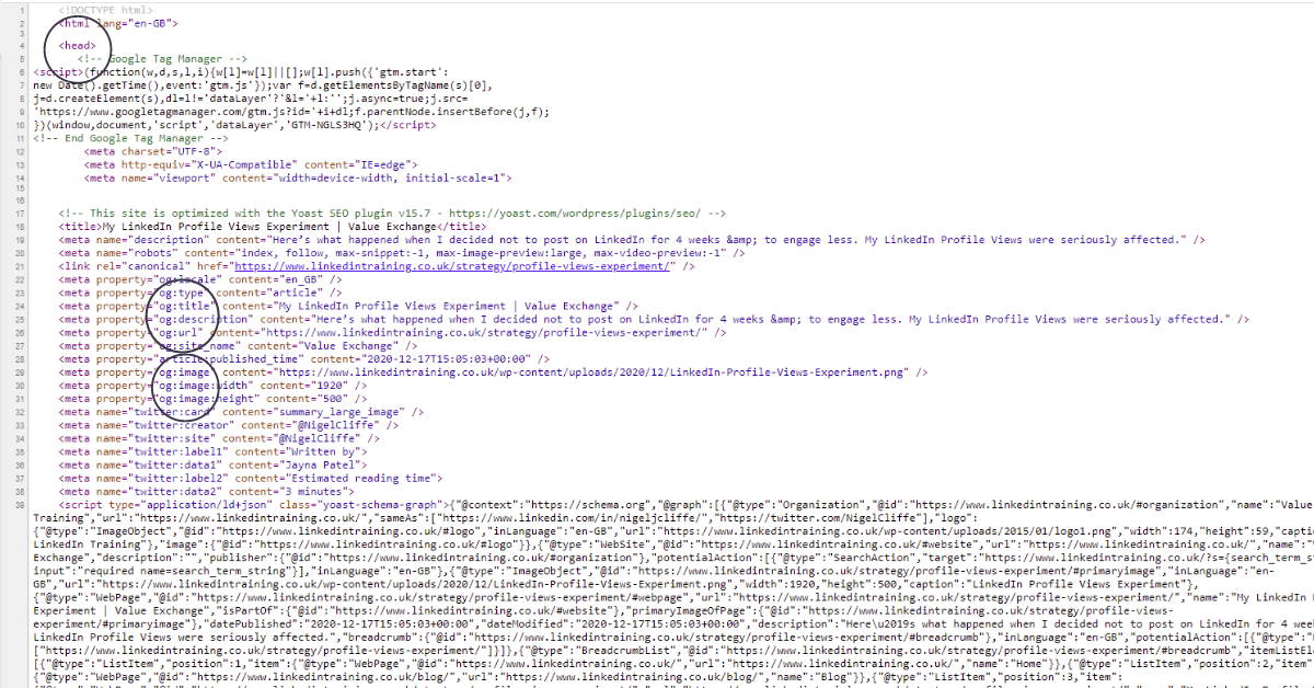 linkedintraining.co.uk <head> code