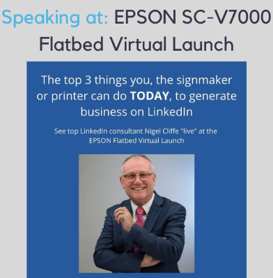 Nigel Cliffe is Speaking at Epson SC-V7000 Flatbed Virtual Launch