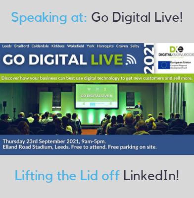 Nigel Cliffe of Value Exchange will be speaking at Go Digital Live1 In Leeds on 23rd September.
